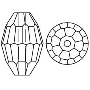 Swarovski Faceted Oval 5200