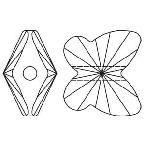 Swarovski Butterfly Bead 5754