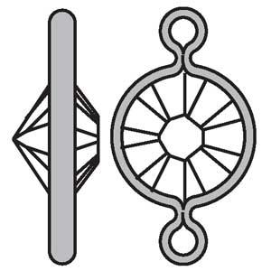 Swarovski channel 57A00 round