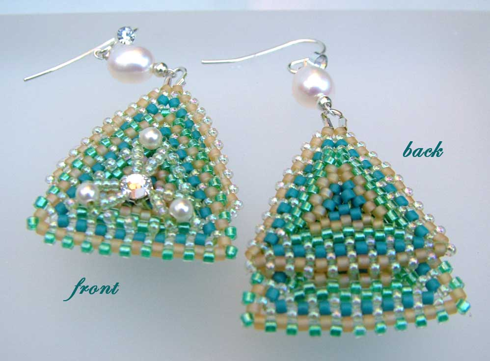 Pearly Earth and Sea beaded jewelry set