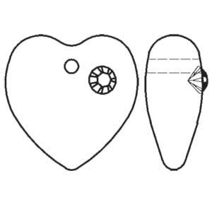 Swarovski pendant heart 6221/4