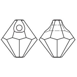 Swarovski top drilled bicone 6301