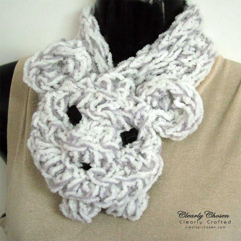 Finger Knitting Necklet Scarves