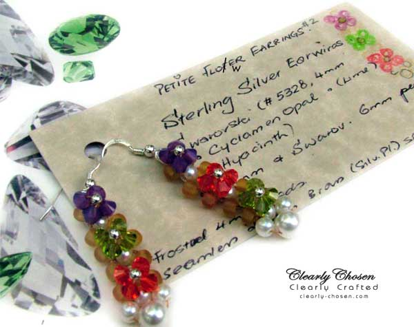 Petite Fleur Swarovski Earrings