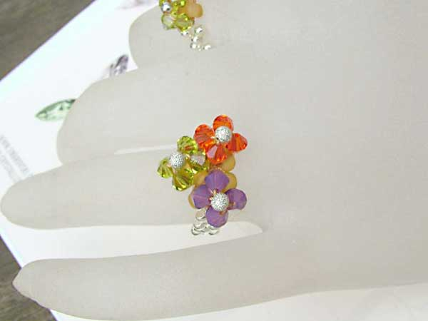 Petite Fleur Swarovski Rings