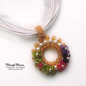 Swarovski Petite Round Flower pendant