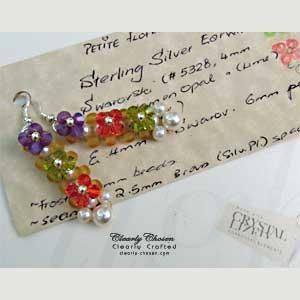 Swarovski Petite Flower Earrings