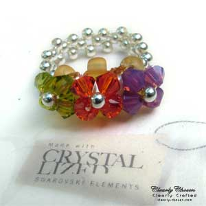 Swarovski Petite Flower ring