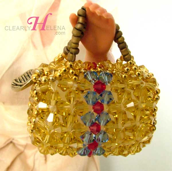 miniature beaded bags