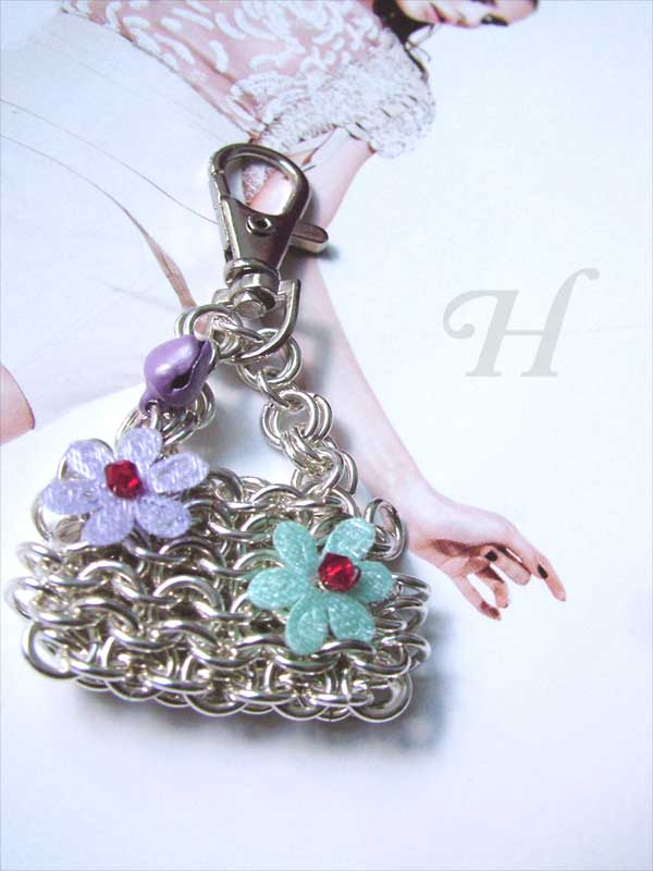 chain mail mini bag accessory