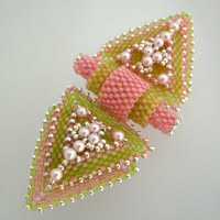 Beaded Butterfly Snap On clasp