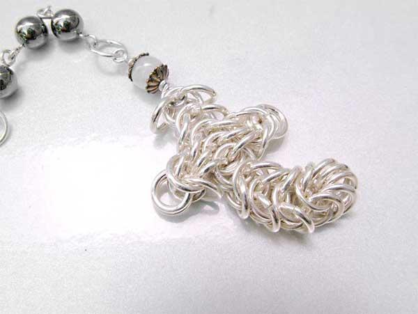 Hematite and Moonstone handmade rosary