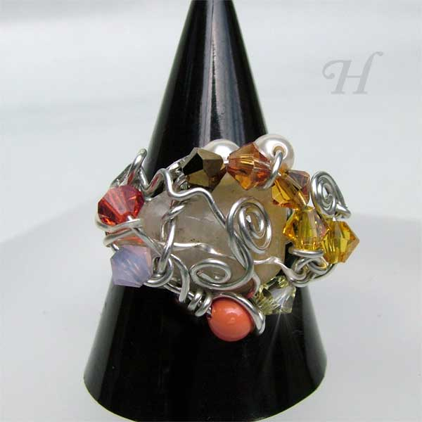 Free Formi Wire Wrapped Jewelry Ring