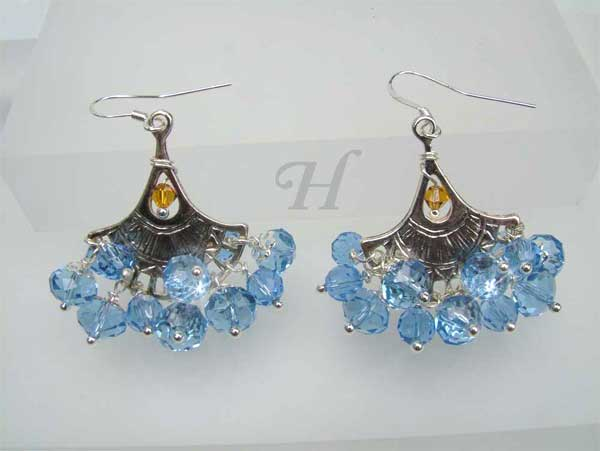 Dancing Blues handmade earrings