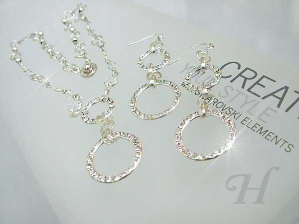 Glamorous Circles Jewelry Set