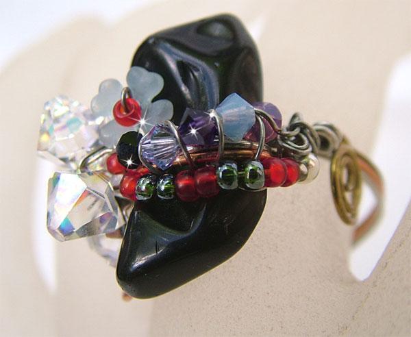 Black Onyx Wire Wrapped Jewelry Ring