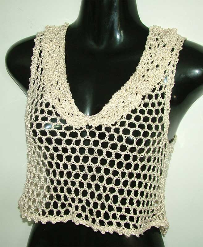 Open Crochet work crop top