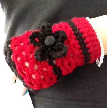Lacy Warm Crochet Fingerless Gloves Hand Warmers