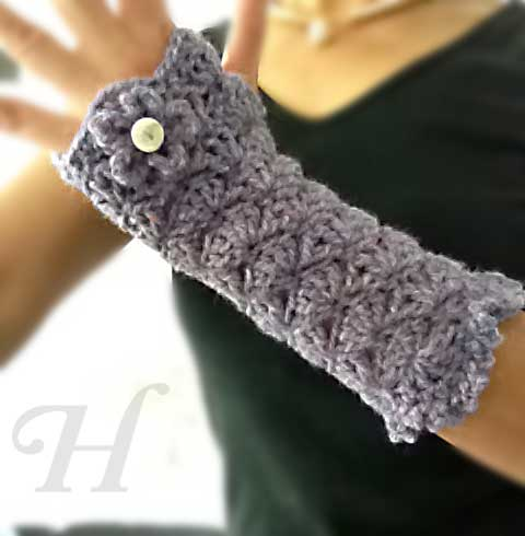 Cute Crochet Chat: New Crochet Hand/Wrist Warmers Pattern