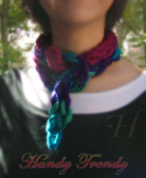 Handy Trendy finger knitted woolen scarf