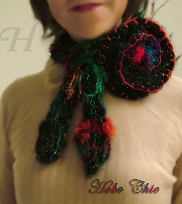 Hobo Chic - Handy Trendy finger knitted woolen scarf
