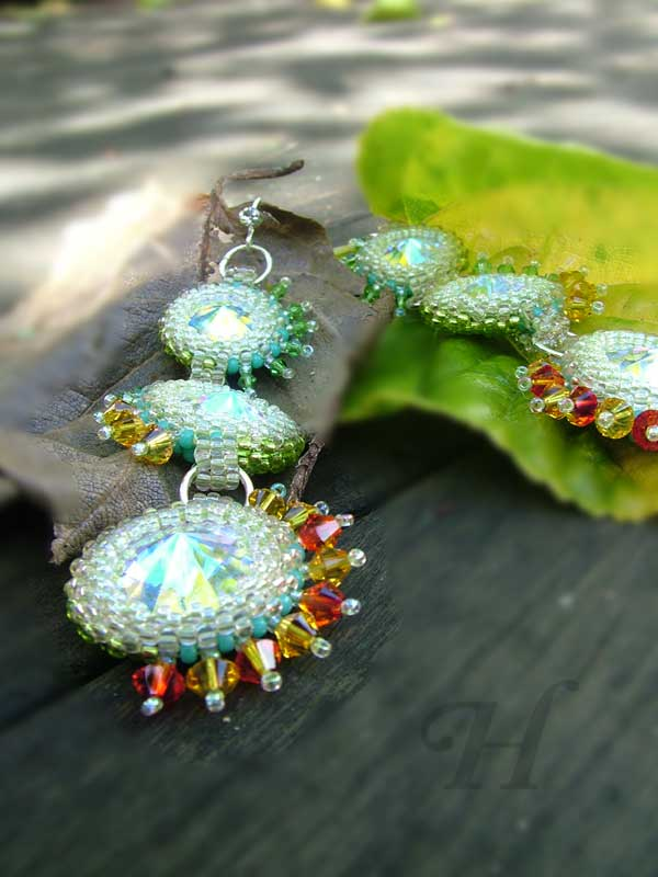 Starlit Invasion rivoli Swarovski earrings