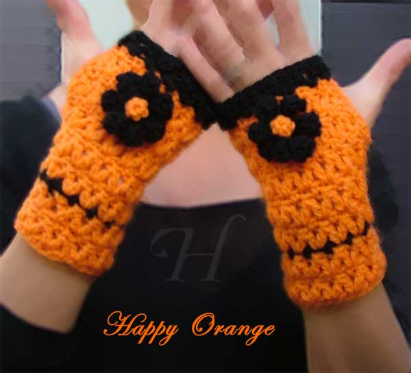 Crochet Fingerless Gloves Hand Warmers