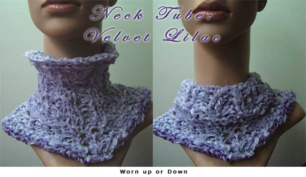 handmade neck tube or neck warmer