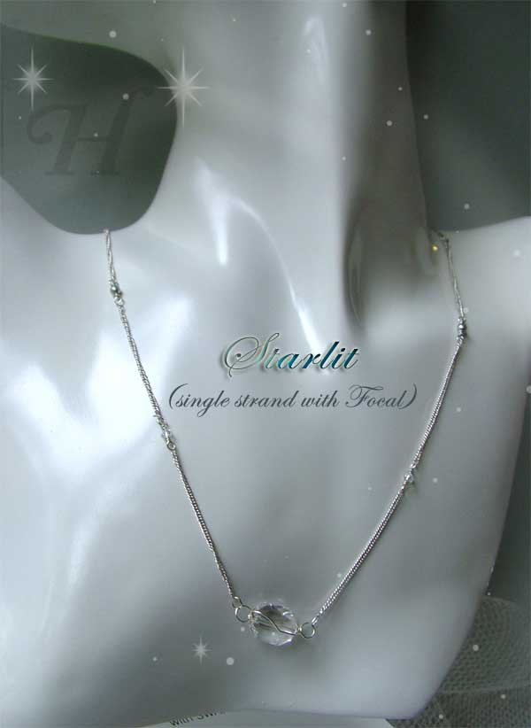 Starlit Swarovski and Sterling Silver Modular Necklace