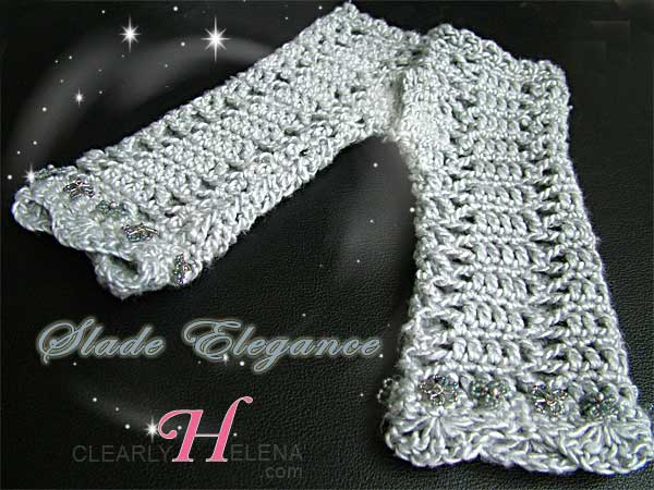 Beaded Crochet Scarf and Gloves set