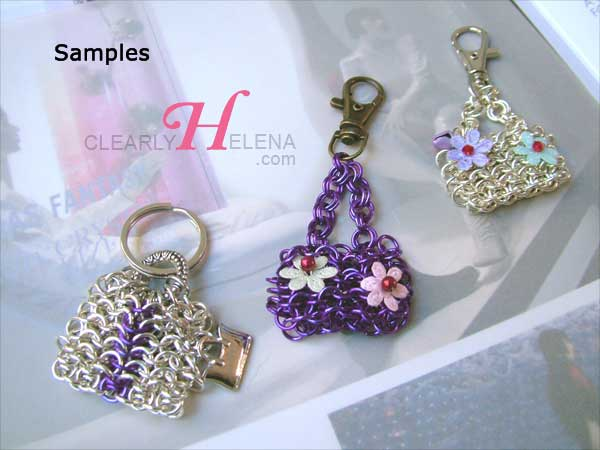 chain mail mini bag accessory