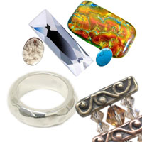 different jewelry materials