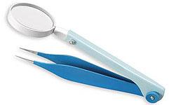 magnifying jewellers tweezers