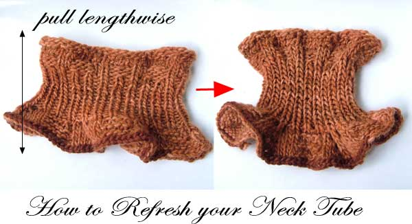 refresh or reshape neck tube aka neck warmer