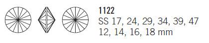 Swarovski Crystal Round Stone 1122 Rivoli Sizes