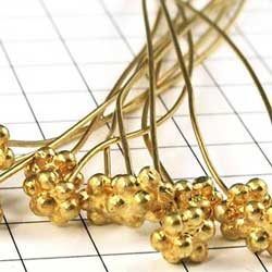 vermeil daisy headed headpins