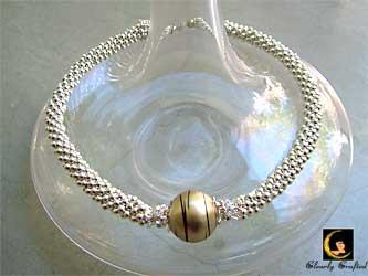 Golden Ball Crochet Beaded Necklace