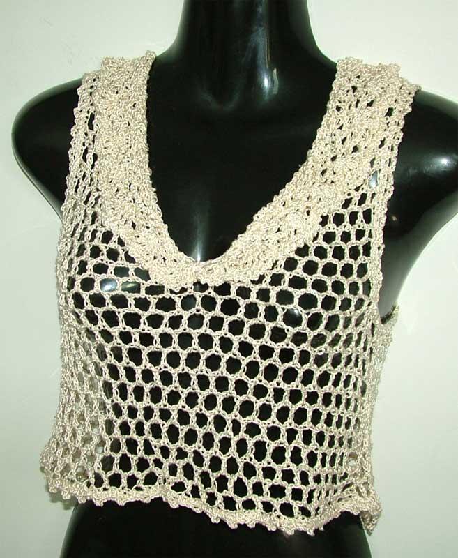 Open Crochet work crop top