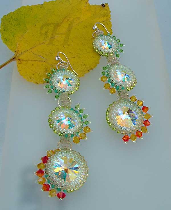 Starlit Invasion rivoli Swarovski earrings