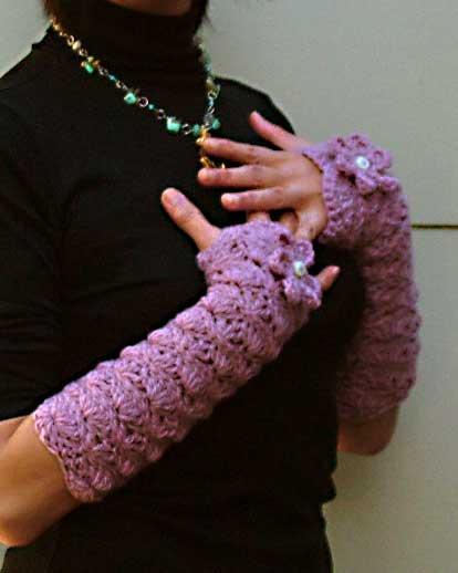 Crochet Fingerless Gloves Hand Warmers