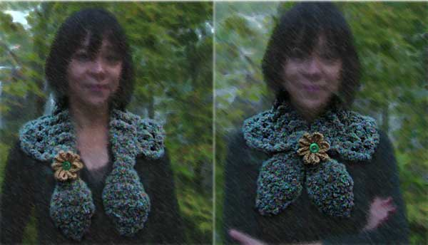 hand knitted neck shawl or neckwarmer