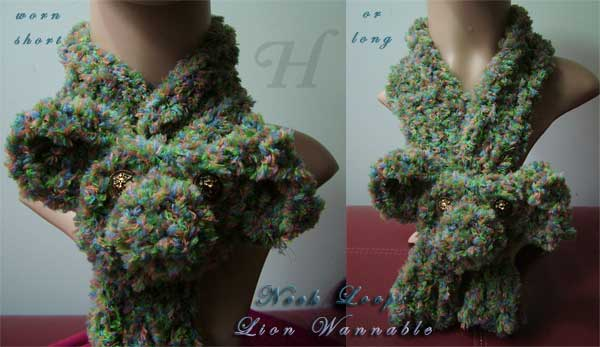 handmade neck warmer or neck loop