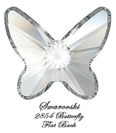 Swarovski Flat Back 2854 Butterfly