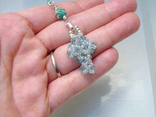 beaded rosary cross